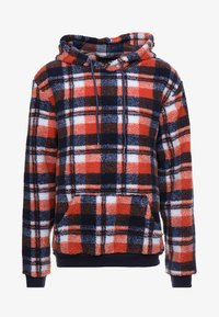 Liquor N Poker - TARTAN BORG HOODY - Kapuzenpullover - blue/orange - 3