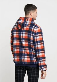 Liquor N Poker - TARTAN BORG HOODY - Kapuzenpullover - blue/orange - 2