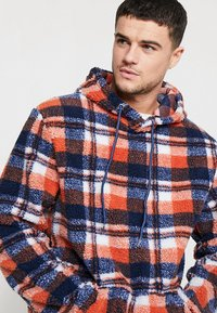 Liquor N Poker - TARTAN BORG HOODY - Kapuzenpullover - blue/orange - 4
