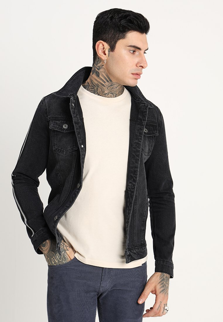Liquor N Poker - JACKET WITH METALLIC SPORT STRIPE - Cowboyjakker - black