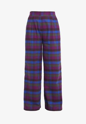 TRAVEL - Trousers - green/blue/pink
