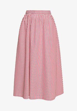 BOX - Áčková sukně - red