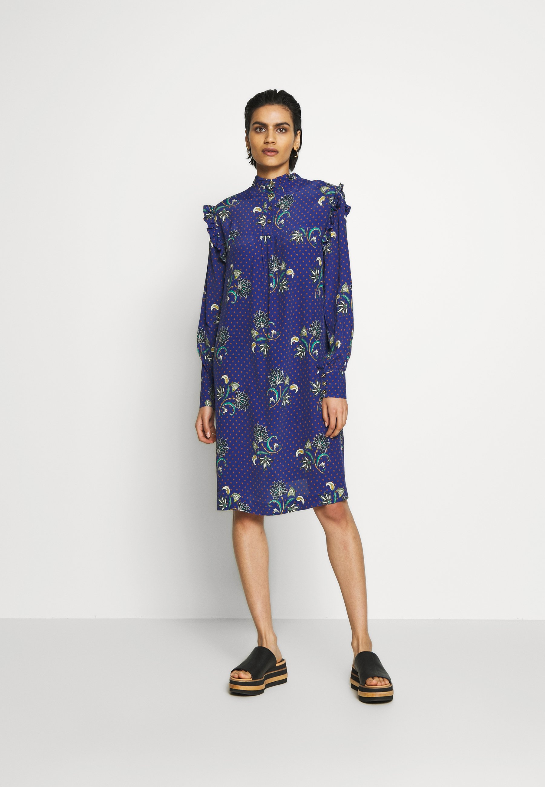 Libertine-libertine Sky - Day Dress Royal Paisley UK