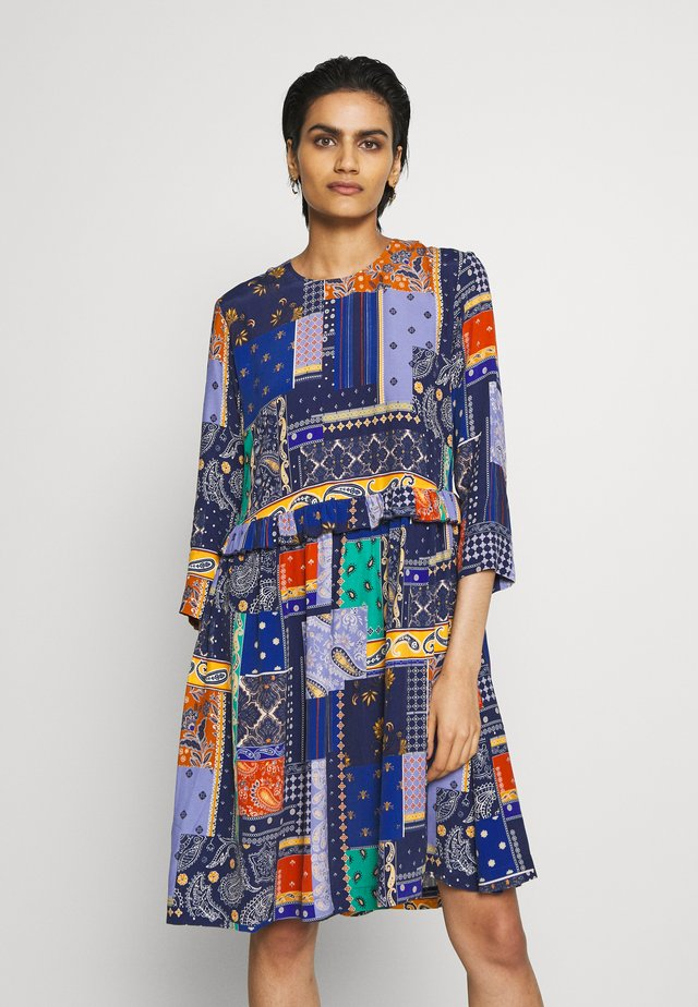 CURL - Korte jurk - royal blue patch