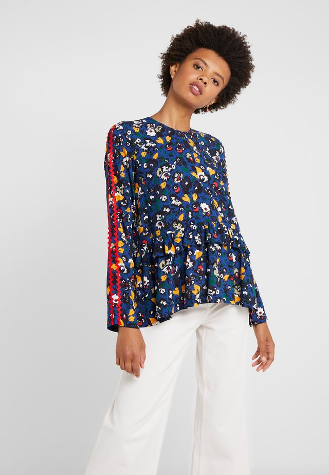 RECORD - Bluse - navy flower