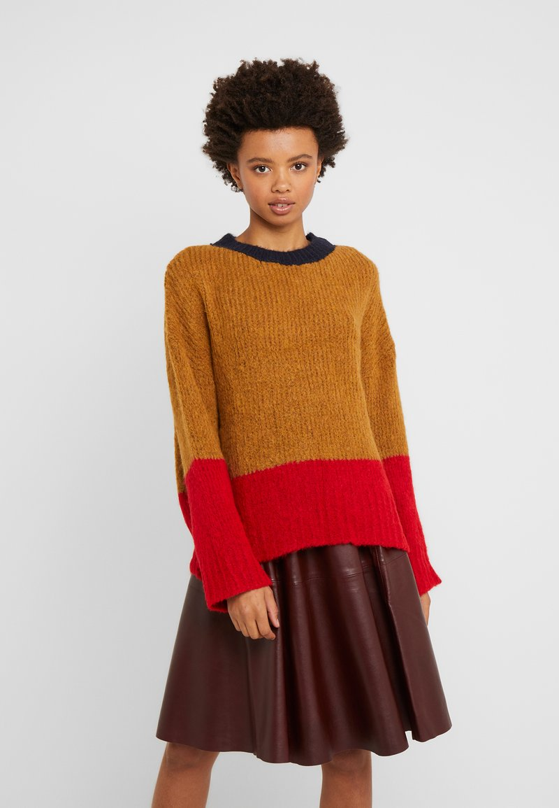 Libertine-Libertine - PYROS - Pullover - camel/bright red