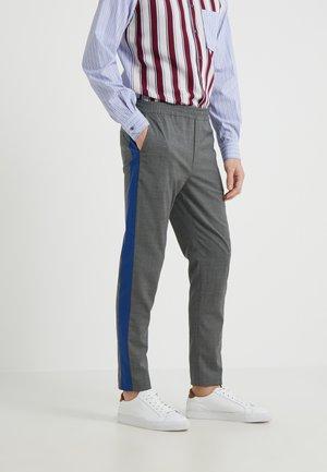 BELIEF RIBBON - Trousers - light grey/blue