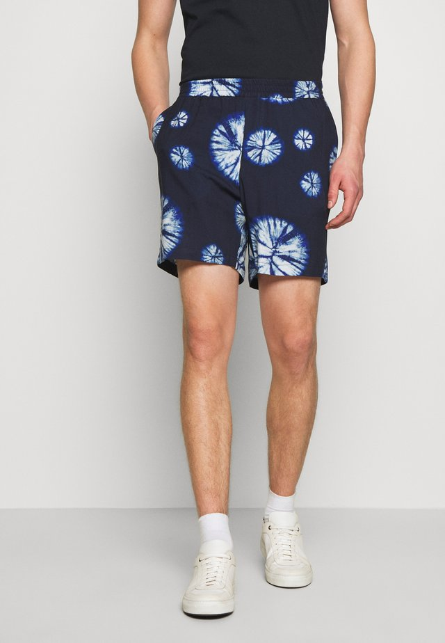 FRONT - Shorts - navy tie dye