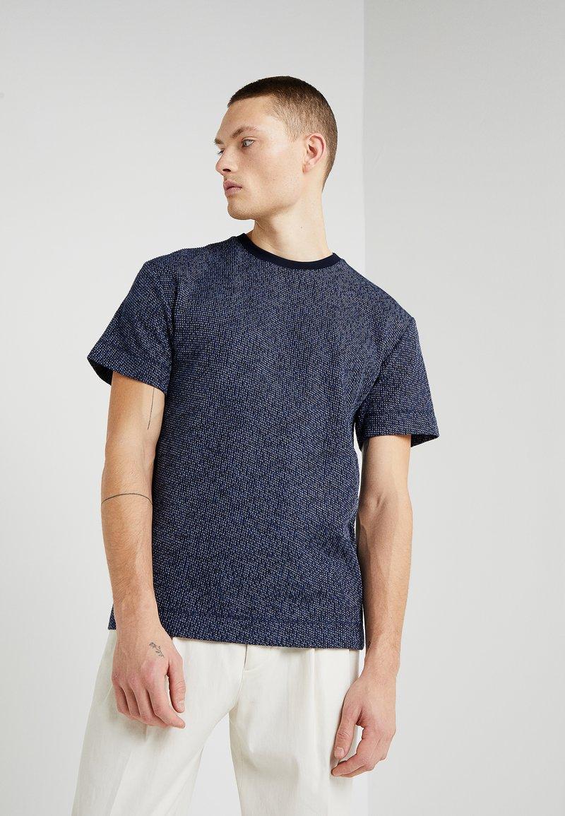 Libertine-Libertine - AC T I O N - Print T-shirt - dark navy blue/white