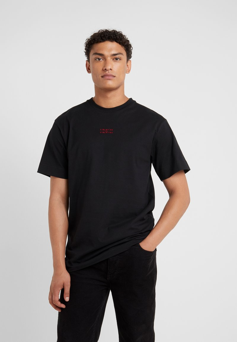 Libertine-Libertine - COOPER LOGO TEE - T-Shirt basic - black