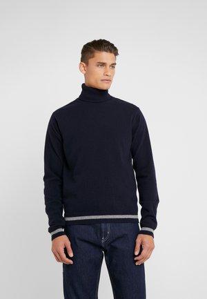 VOLCANO ROLLNECK - Stickad tröja - dark navy/grey melange