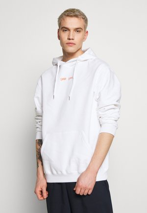 HOODIE LUST LIFE - Sweat à capuche - white/orange