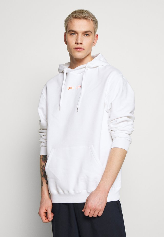 HOODIE LUST LIFE - Huppari - white/orange