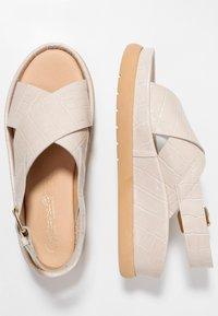 L'INTERVALLE - REME - Platform sandals - light beige - 3