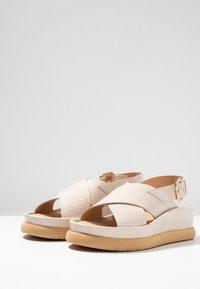 L'INTERVALLE - REME - Platform sandals - light beige - 4