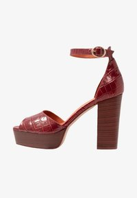 L'INTERVALLE - DISAMA - High heeled sandals - brandy - 1