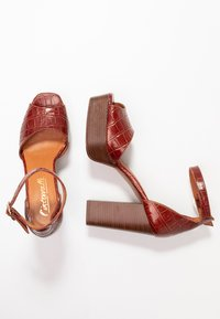 L'INTERVALLE - DISAMA - High heeled sandals - brandy - 3