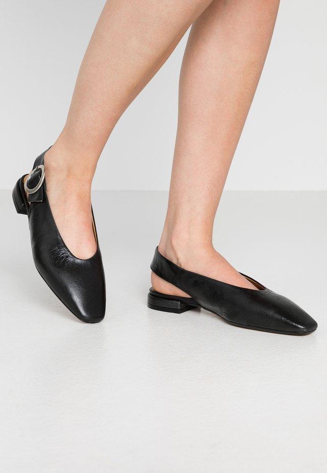 FARENI - Ballerinaskor med slingback - black malory
