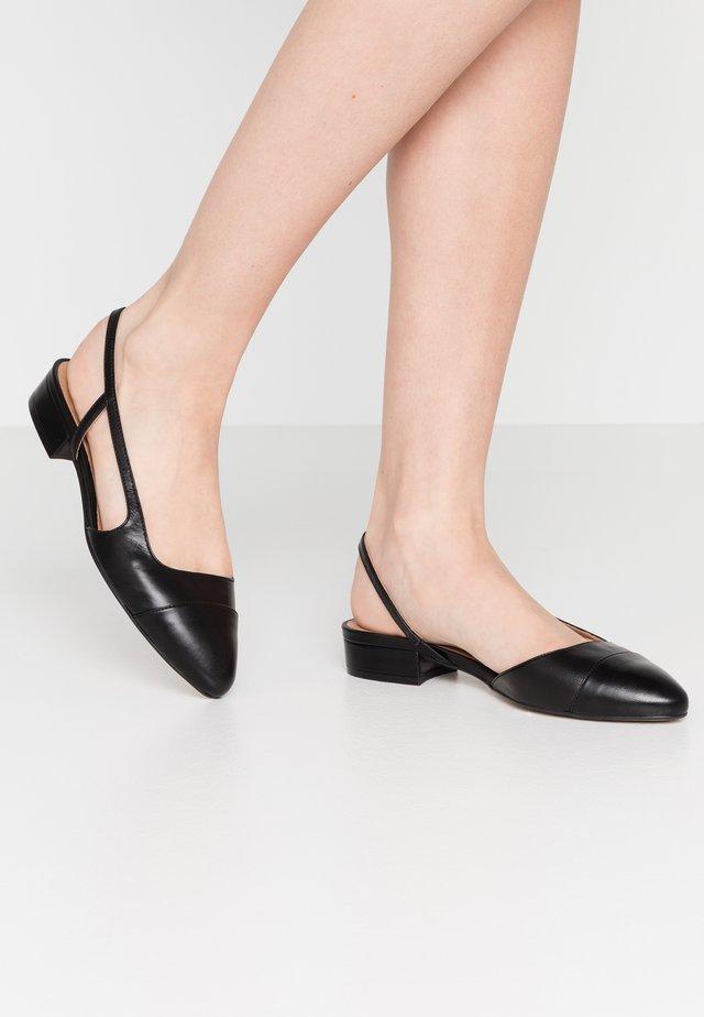 Slingback ballet pumps - black