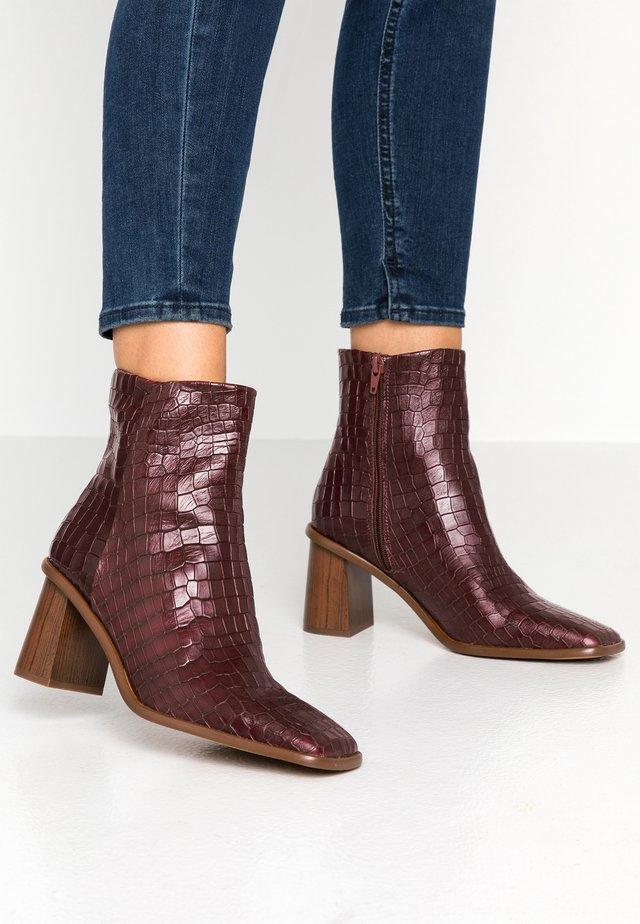 CONDU - Classic ankle boots - bordo coco