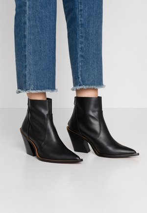 HELENA - High heeled ankle boots - black
