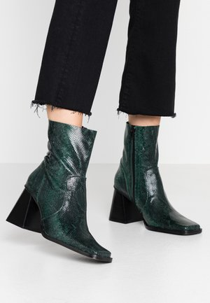 VOG - High heeled ankle boots - green
