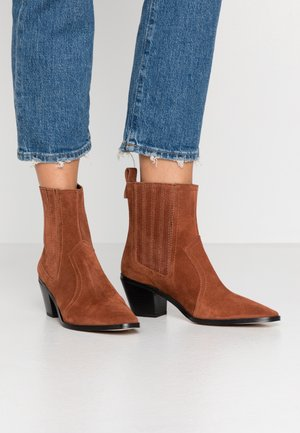 BLANCHE - Cowboy/biker ankle boot - brown
