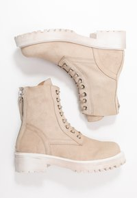 L'INTERVALLE - KINGHAM - Lace-up ankle boots - beige - 3