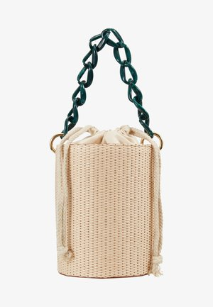 BASKET BAG WITH HANDLE - Handtasche - cream