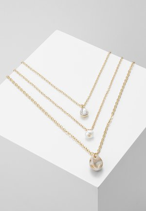 3 ROWS - Necklace - gold-coloured