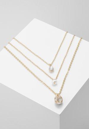 3 ROWS - Collar - gold-coloured