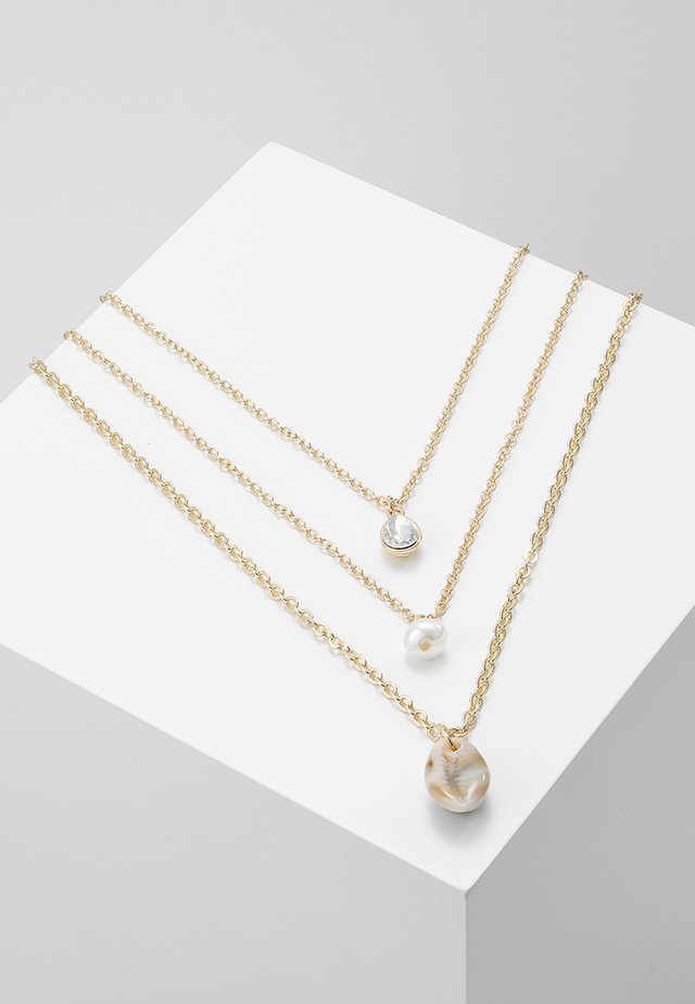 3 ROWS - Ketting - gold-coloured
