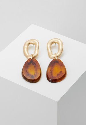 AMBER DROP - Earrings - orange