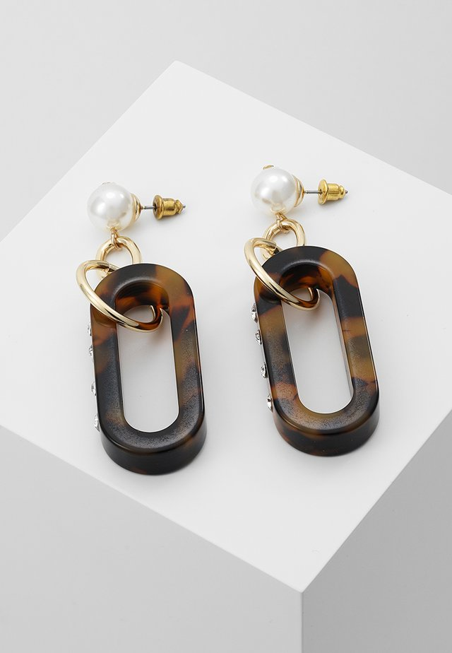 DRILL TORT DROP - Earrings - brown