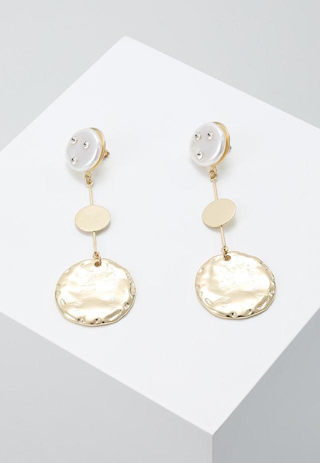 DISC STATEMENT EARRING - Earrings - gold-coloured