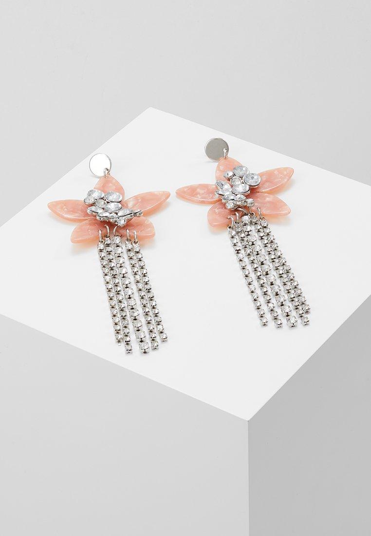 LIARS & LOVERS - CUPCHAIN DRAP EARRING - Náušnice - silver-coloured