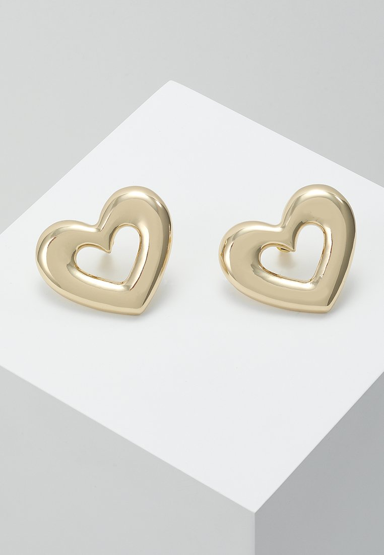 LIARS & LOVERS - OPEN HEART POWER STUDS - Pendientes - gold-coloured