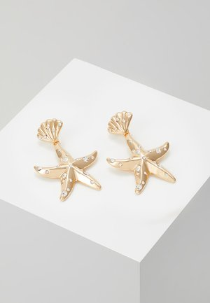ENCRUSTED STARFISH DROP - Korvakorut - gold-coloured