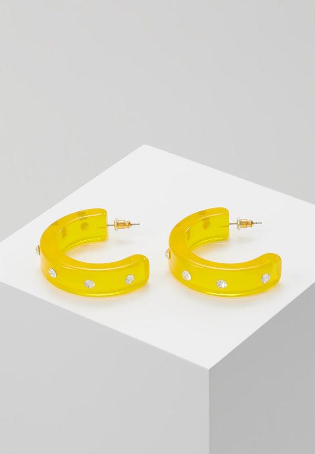 HOOP - Boucles d'oreilles - yellow