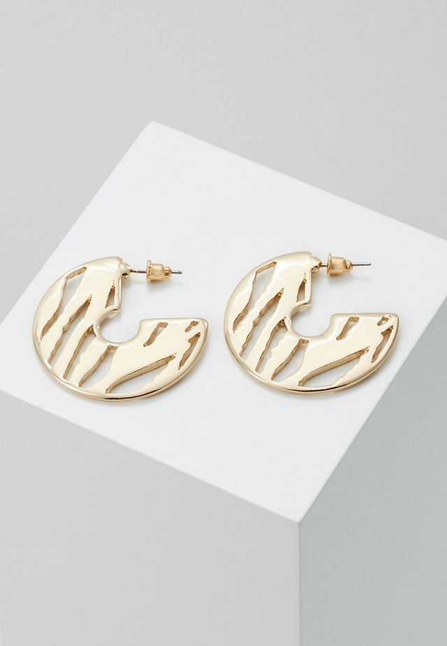 CUT OUT HOOP - Earrings - gold-coloured