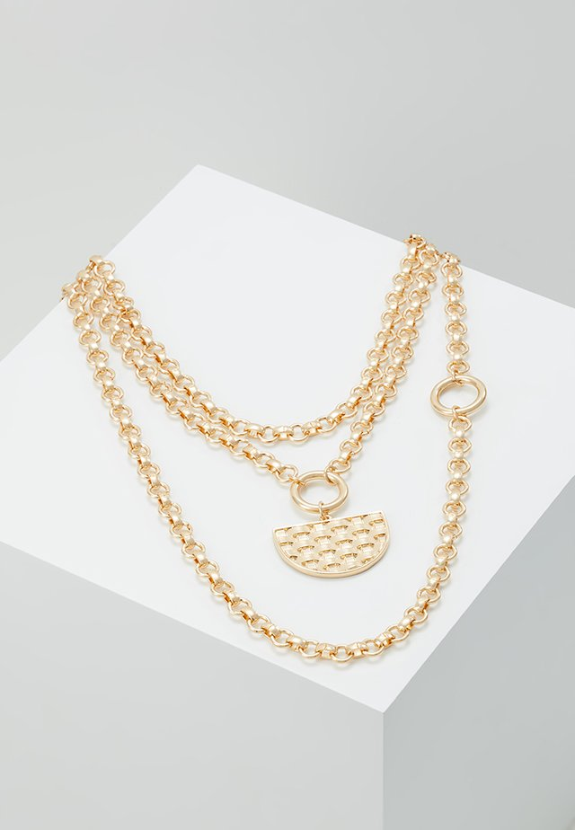 WEAVE PENDANT - Ketting - gold-coloured