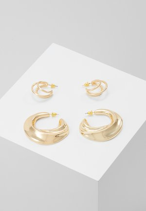 DOUBLE HOOP 2 PACK - Ohrringe - gold-coloured