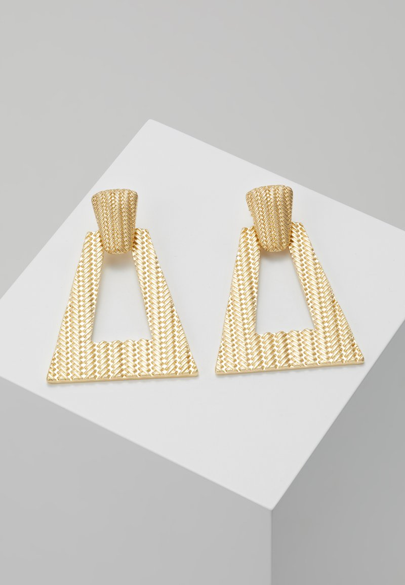 LIARS & LOVERS - TEXURED GEO DROP - Earrings - gold-coloured
