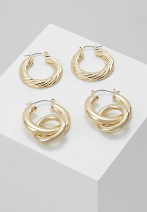 DETAILED HOOP DUO - Øredobber - gold-coloured