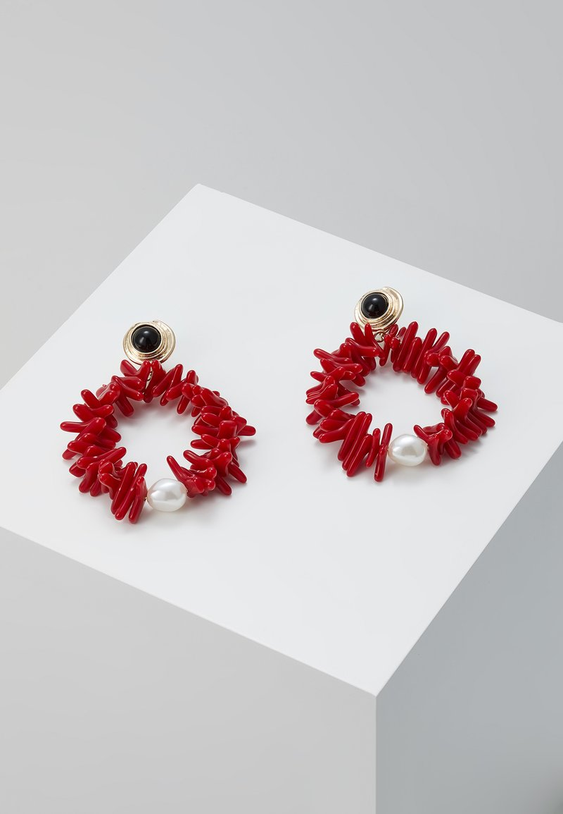 LIARS & LOVERS - CORAL STATEMENT - Earrings - red