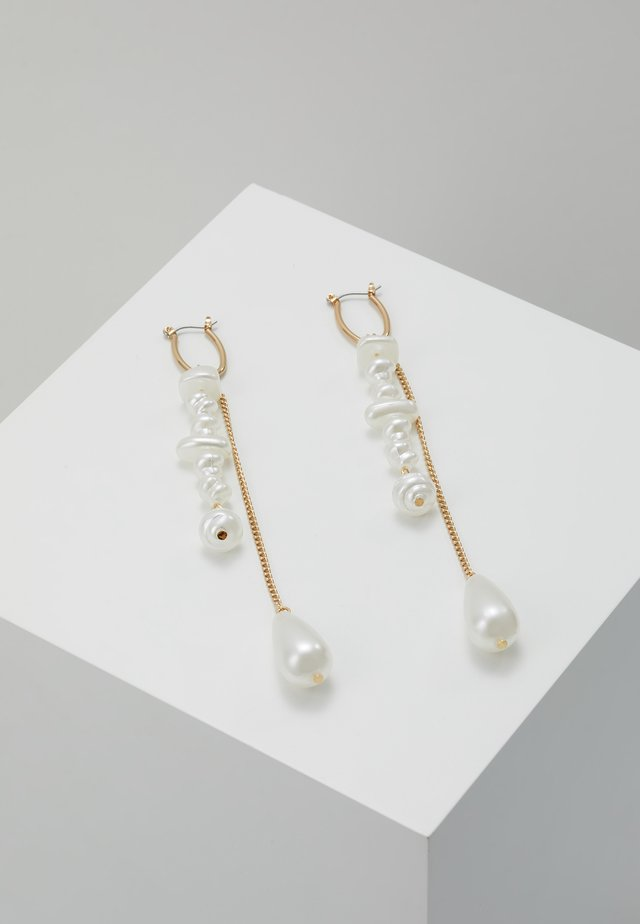 SLEEK DROP - Earrings - gold-coloured