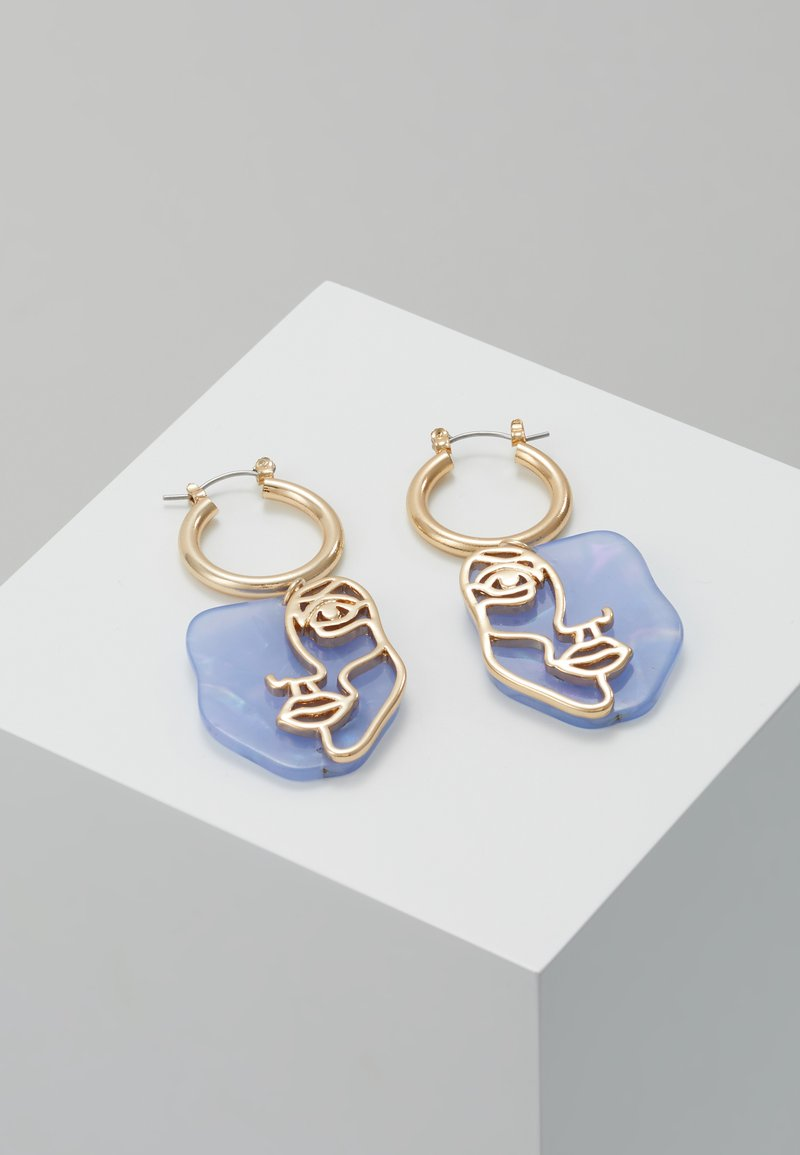 LIARS & LOVERS - FACE DETAIL DROP - Earrings - pastel blue