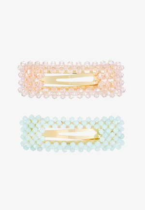 FACETED BEAD CLIP - Hair styling accessory - pastel multi