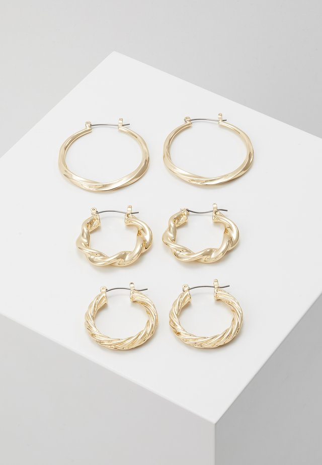 MOTLEN HOOP 3 PACK - Örhänge - gold-coloured