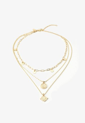 COIN & DISC - Ketting - gold-coloured